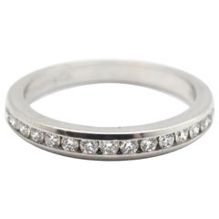 Tiffany & Co. Platinum and 0.30 Carat Round Diamond Semi-Eternity Band