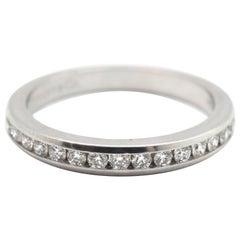 Tiffany & Co. Platinum and 0.30 Carat Round Diamond Semi-Eternity Band