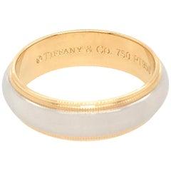 Tiffany & Co. Platinum and 18 Karat Yellow Gold Wedding Band