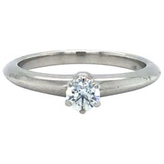 Tiffany & Co. Platinum and .20 Carat Diamond Solitaire Engagement Ring