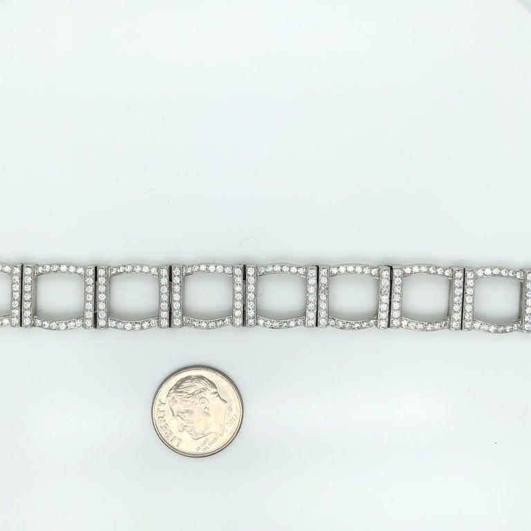 Modern Tiffany & Co. Platinum and Diamond Bracelet For Sale