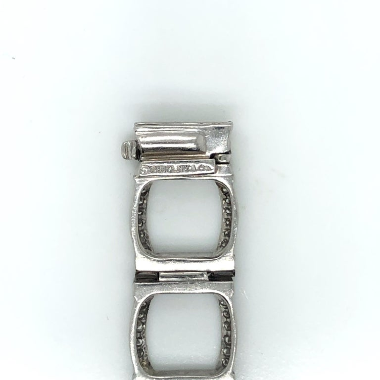 Round Cut Tiffany & Co. Platinum and Diamond Bracelet For Sale
