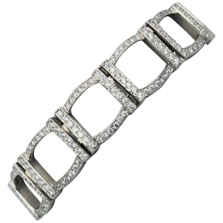 Tiffany & Co. Platinum and Diamond Bracelet For Sale