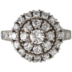 Tiffany & Co. Platinum and Diamond Cluster Ring