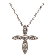 Tiffany & Co. Platinum and Diamond Cross