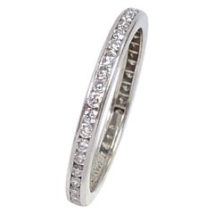 Tiffany & Co. Platinum and Diamond Eternity Band Ring