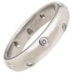 Tiffany & Co. Platinum and Diamond Etoile Band Ring