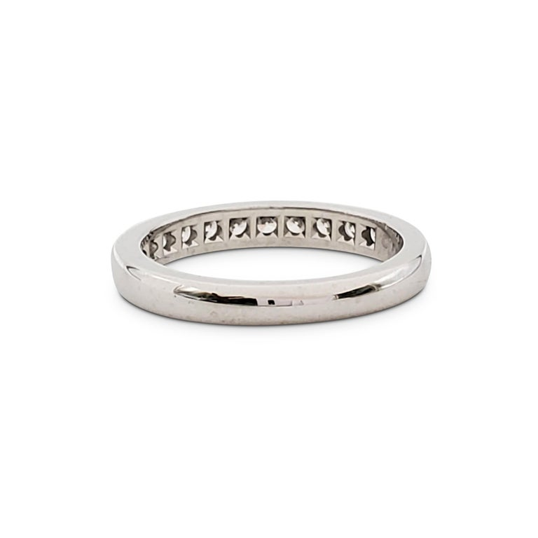 Tiffany & Co. Platinum and Diamond Half-Band In Excellent Condition For Sale In New York, NY