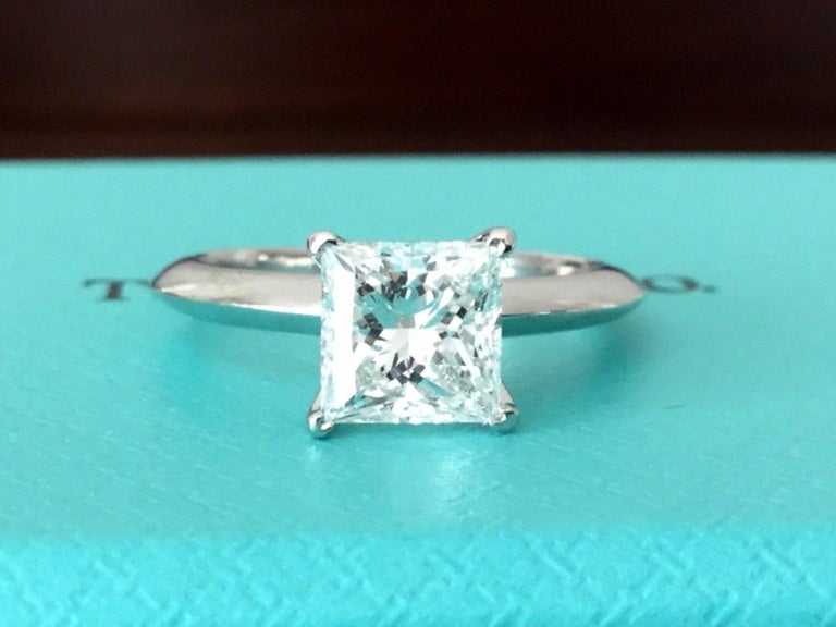 17f0164c5 For your consideration is a Tiffany & Co Princess cut, natural diamond  solitaire that is