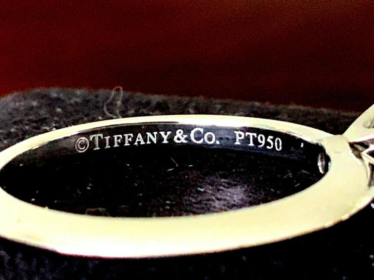 Tiffany & Co. Platinum and Diamond Princess Cut Ring .57 Carat E VS2 For Sale 6