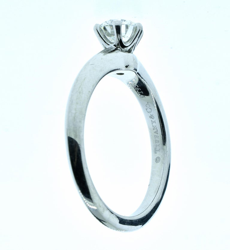 Tiffany & Co. Platinum and Diamond Ring For Sale 1