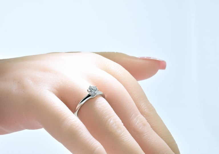 Tiffany & Co. Platinum and Diamond Ring For Sale 3