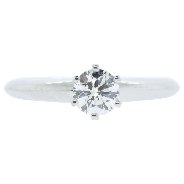 Tiffany & Co. Platinum and Diamond Ring For Sale