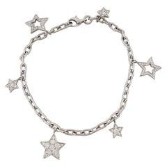Tiffany & Co. Platinum and Diamond Star Charm Bracelet