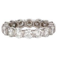 Tiffany & Co. Platinum and Diamond Tiffany Embrace Band Ring