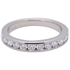 Tiffany & Co. Platinum and Diamond Wedding Band Ring 2.5 MM