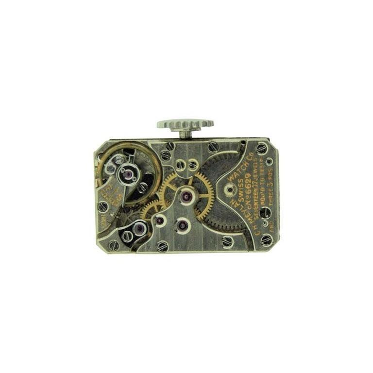 Tiffany & Co. Platinum Art Deco High Grade Wristwatch by Meylan, circa 1930s For Sale 4