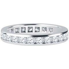 Tiffany & Co. Platinum Band, 2.16 Carat Channel-Set Brilliant Cut Diamonds