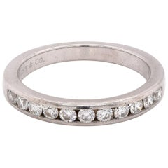 Tiffany & Co. Platinum Channel Set Diamond Band