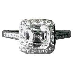 Tiffany & Co. Platinum Diamond 1.02 Carat Legacy Engagement Ring G VS1