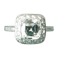Tiffany & Co. Platinum Diamond 1.29 Carat Legacy Engagement Ring H VS1