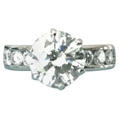 Tiffany & Co. Platinum Diamond 1.52 Carat Round Engagement Ring G VS2