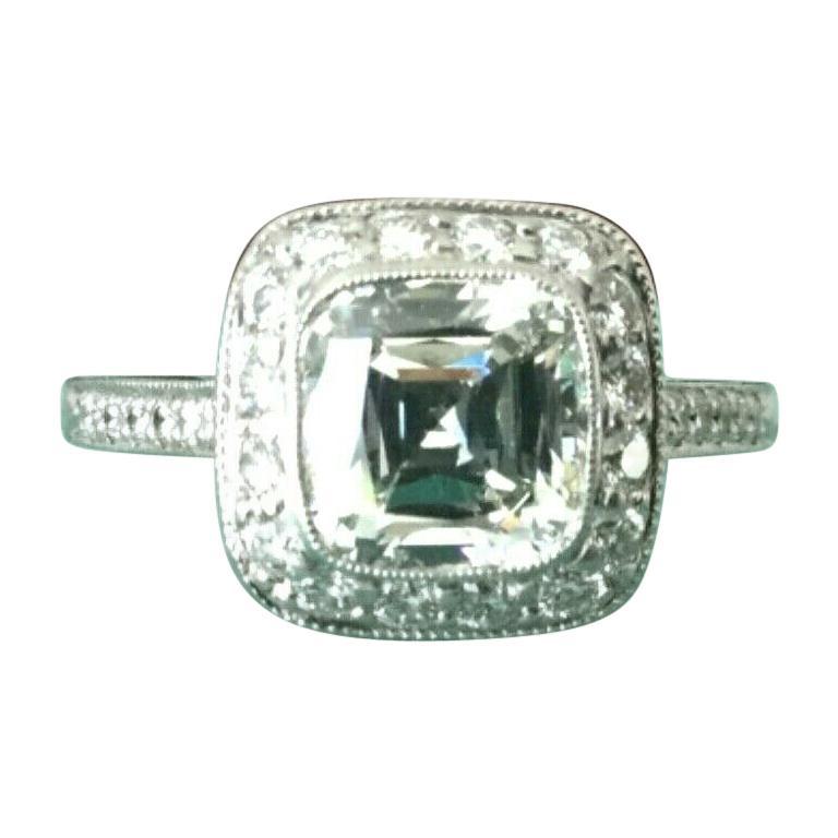 6540e539b Tiffany and Co. Platinum Diamond 1.63 Carat Legacy Engagement Ring I ...