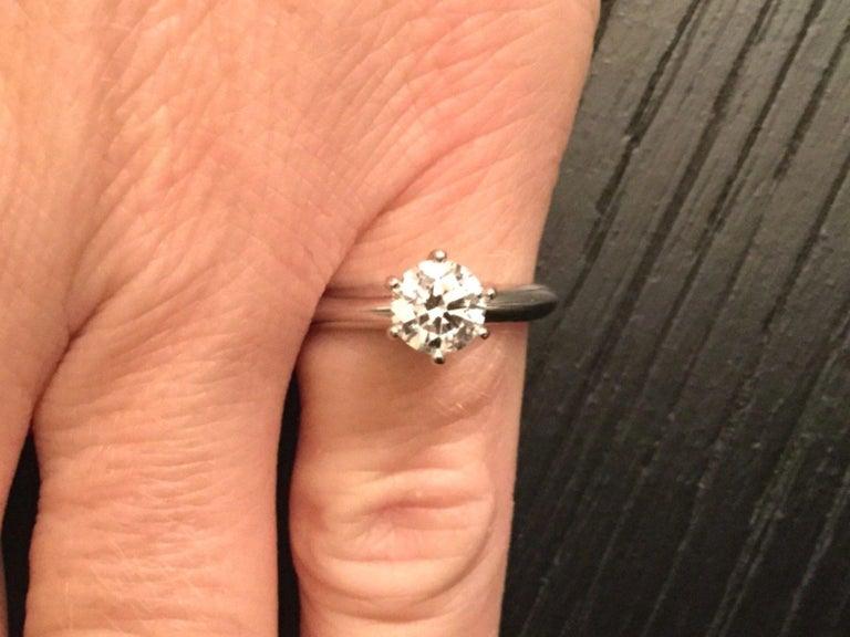 68539803d4f Tiffany   Co. Platinum Diamond .80 Carat Round Engagement Ring E VVS1 In  Excellent