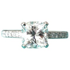 Tiffany & Co. Platinum Diamond .95 Carat Novo Engagement Ring Triple Excellent