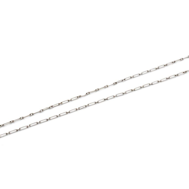 Women's or Men's Tiffany & Co. Platinum Diamond and Pearl Pendant For Sale