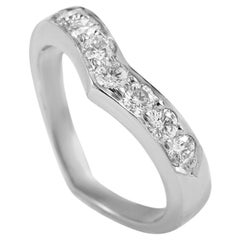 Tiffany & Co. Platinum and Diamond Band Ring AK1B248