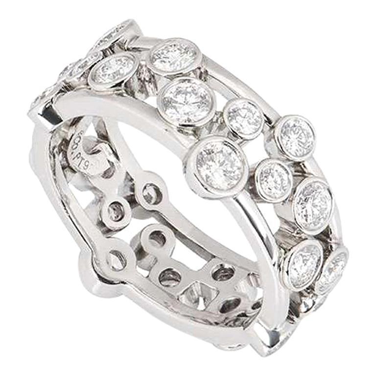 Tiffany & Co. Platinum Diamond Bubble Ring 1.60 Carat For Sale