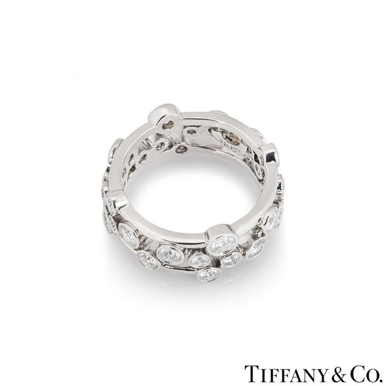 Tiffany & Co. Platinum Diamond Bubble Ring 1.60 Carat In Excellent Condition For Sale In London, GB