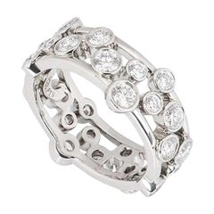 Tiffany & Co. Platinum Diamond Bubble Ring