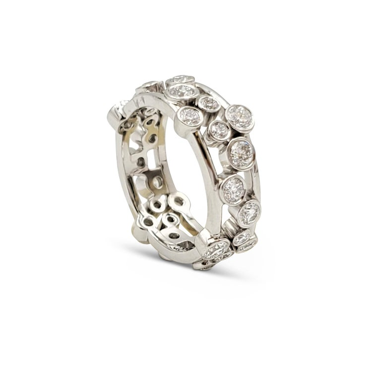 Tiffany & Co. Platinum Diamond 'Bubbles' Ring In Excellent Condition For Sale In New York, NY