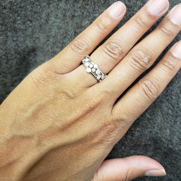 Tiffany & Co. Platinum Diamond 'Bubbles' Ring For Sale 1