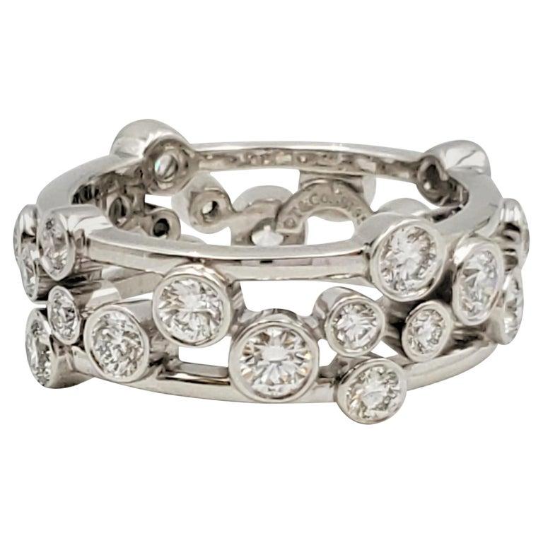 Tiffany & Co. Platinum Diamond 'Bubbles' Ring For Sale