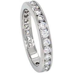 Tiffany & Co. Platinum Diamond Channel Wedding Ring