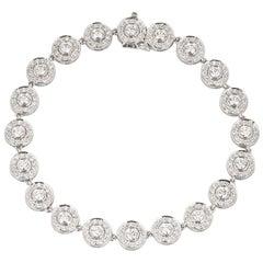 Tiffany & Co. Platinum Diamond Circlet Bracelet 2.60 Carat