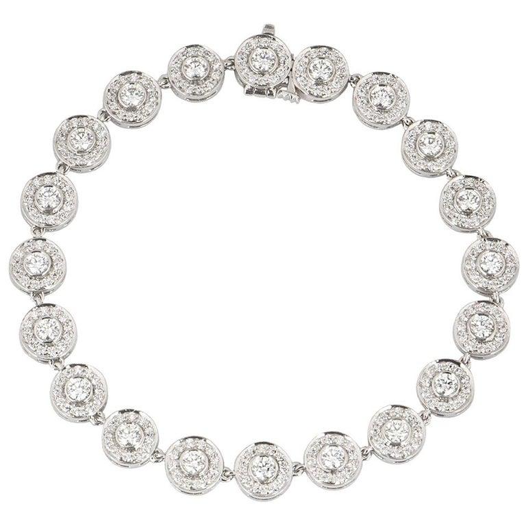Tiffany & Co. Platinum Diamond Circlet Bracelet 2.60 Carat For Sale