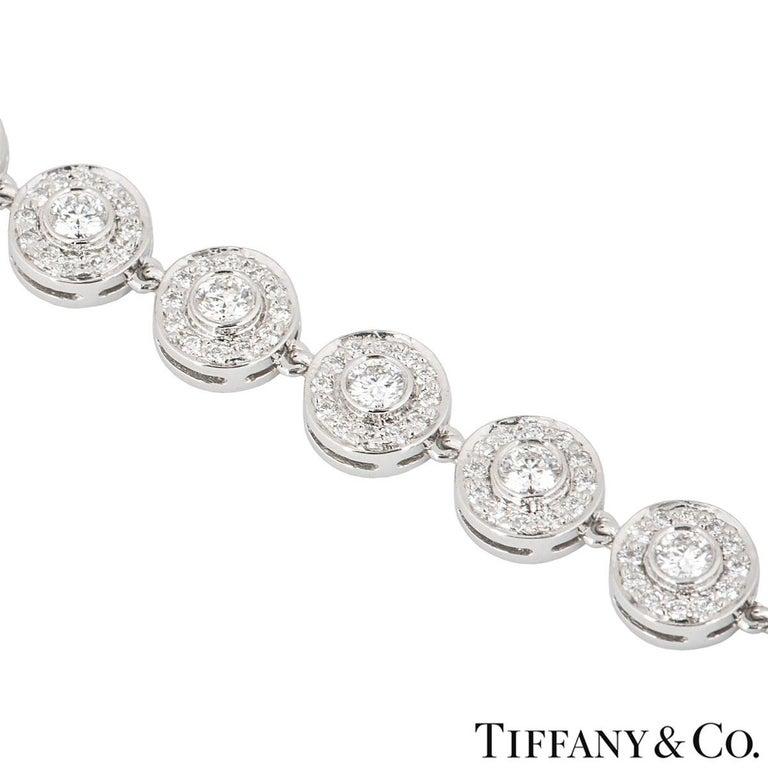 Women's Tiffany & Co. Platinum Diamond Circlet Bracelet 2.60 Carat For Sale