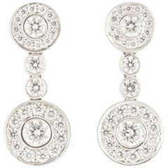 Tiffany & Co. Platinum Diamond Circlet Earrings 1.18 carats