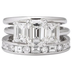 Tiffany & Co. Platinum Diamond Complete Engagement Ring Set