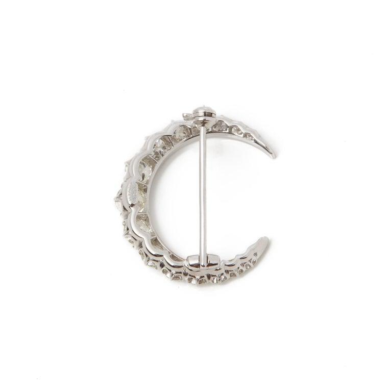 Code: COM2149 Brand: Tiffany & Co. Description: Platinum Diamond Crescent Moon Brooch Accompanied With: Presentation Box Gender: Ladies Brooch Length: 2.4cm Brooch Width: 2.3cm Condition: 9 Material: Platinum Total Weight: 4.00g