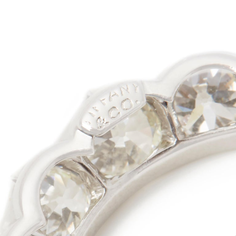 Women's Tiffany & Co. Platinum Diamond Crescent Vintage Moon Brooch For Sale