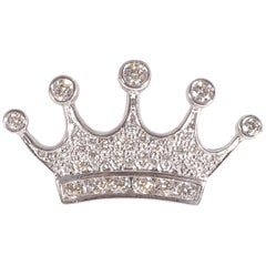 Tiffany & Co. Platinum Diamond Crown Brooch