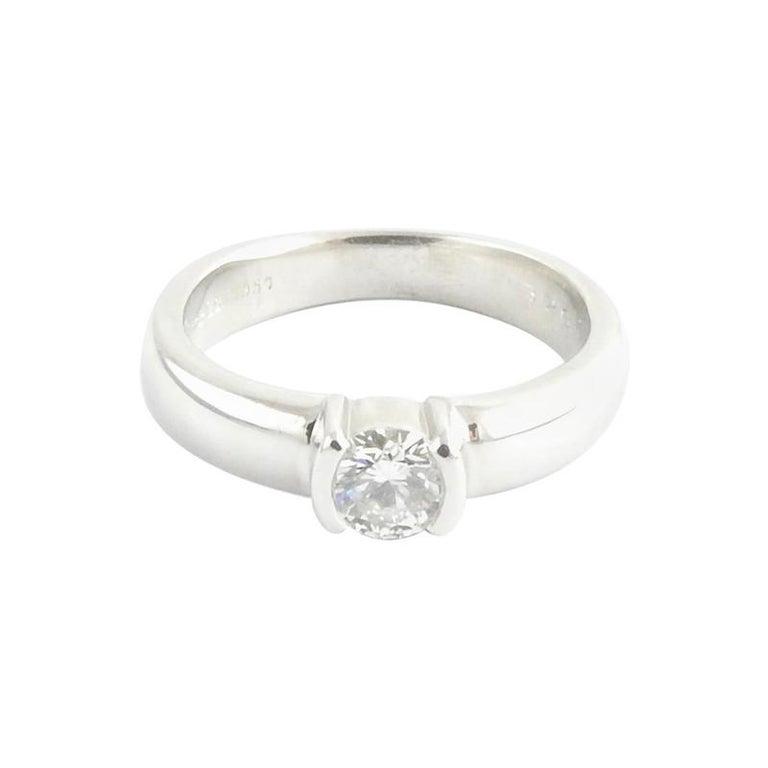 Engagement Ring Box Sale: Tiffany And Co. Platinum Diamond Engagement Ring .45 Carat