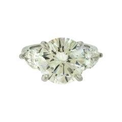 Tiffany & Co. Platinum Diamond Engagement Ring, 5.26 Carat Center Stone