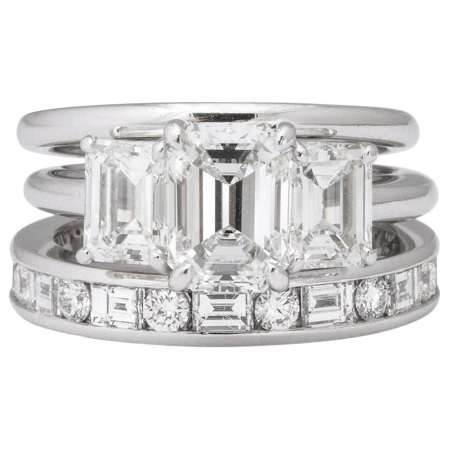 Tiffany & Co. Platinum Diamond Engagement Ring Set