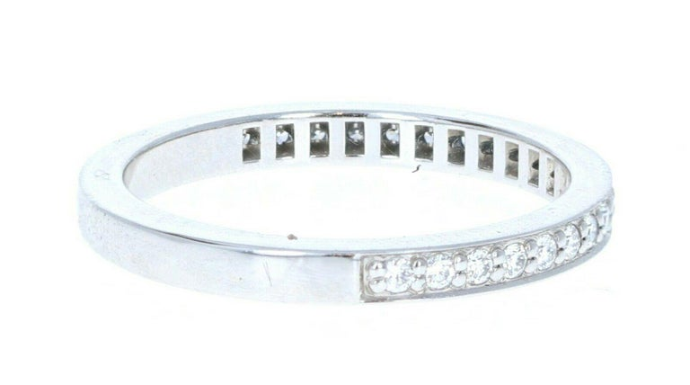 Tiffany & Co Platinum & Diamond Eternity Band 2.2mm Sz 6    Beautiful Platinum and diamond eternity band ring   Very elegant for everyday wear !!     Size 6  Weight 3.7 grams  WIDTH- 2.2 MM  #2203